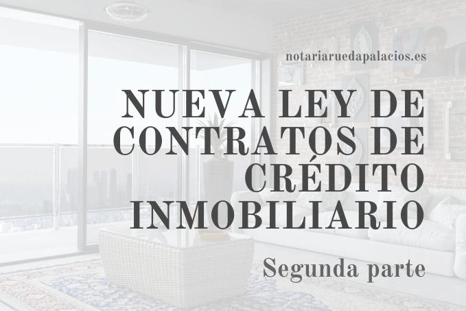 Nueva ley de contratos de crédito inmobiliario 2